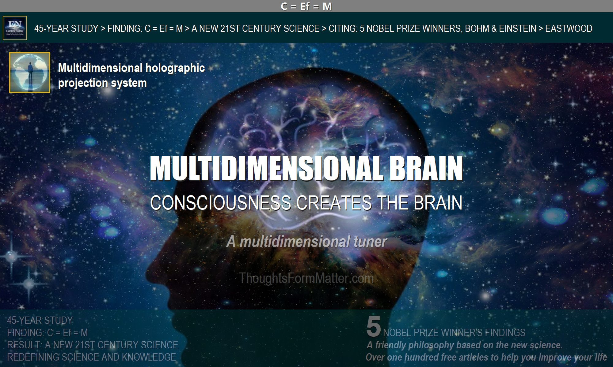The brain does not produce consciousness create the brain new science