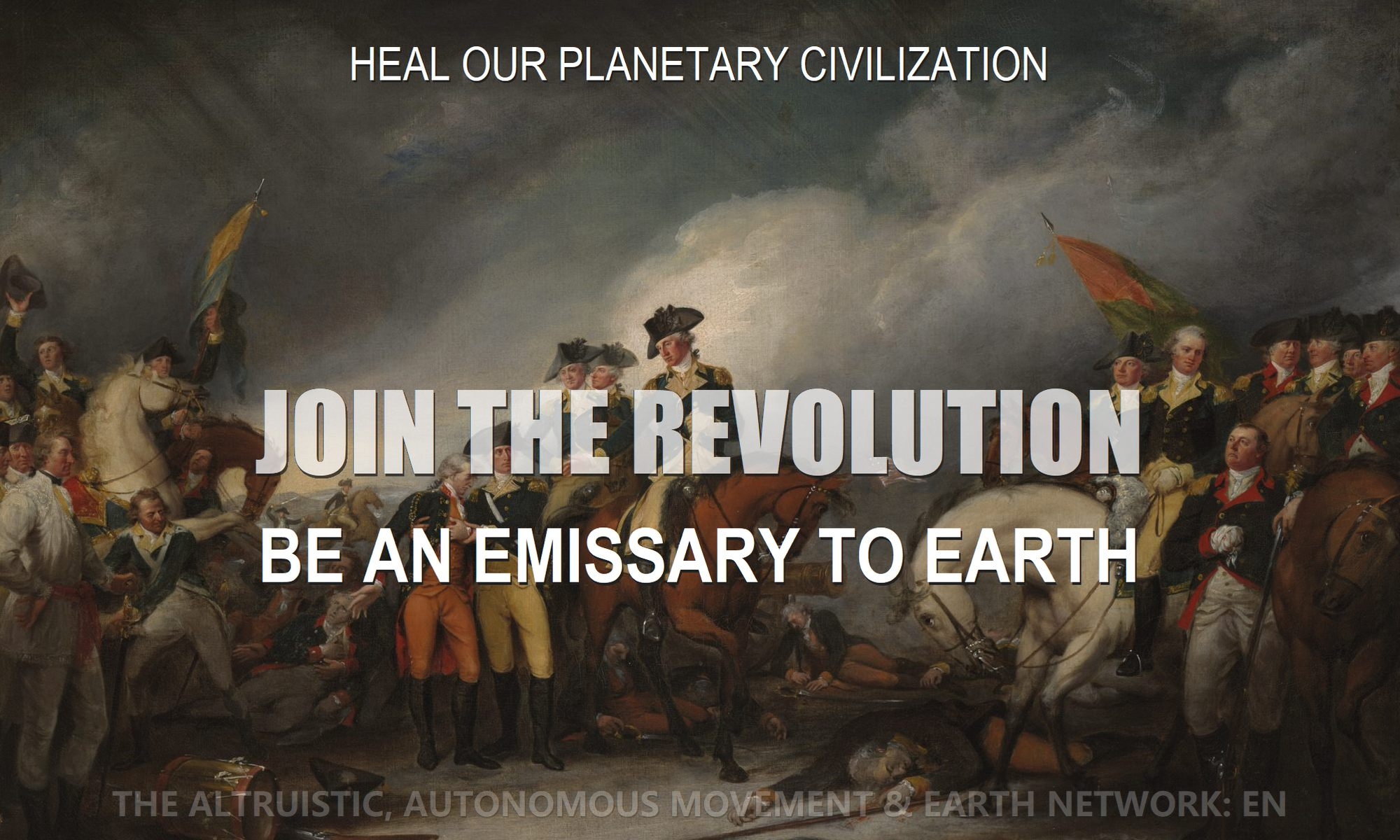 Revolutionaries after battle depict revolution as we change our reality to change our world through the altruistic autonomous movement