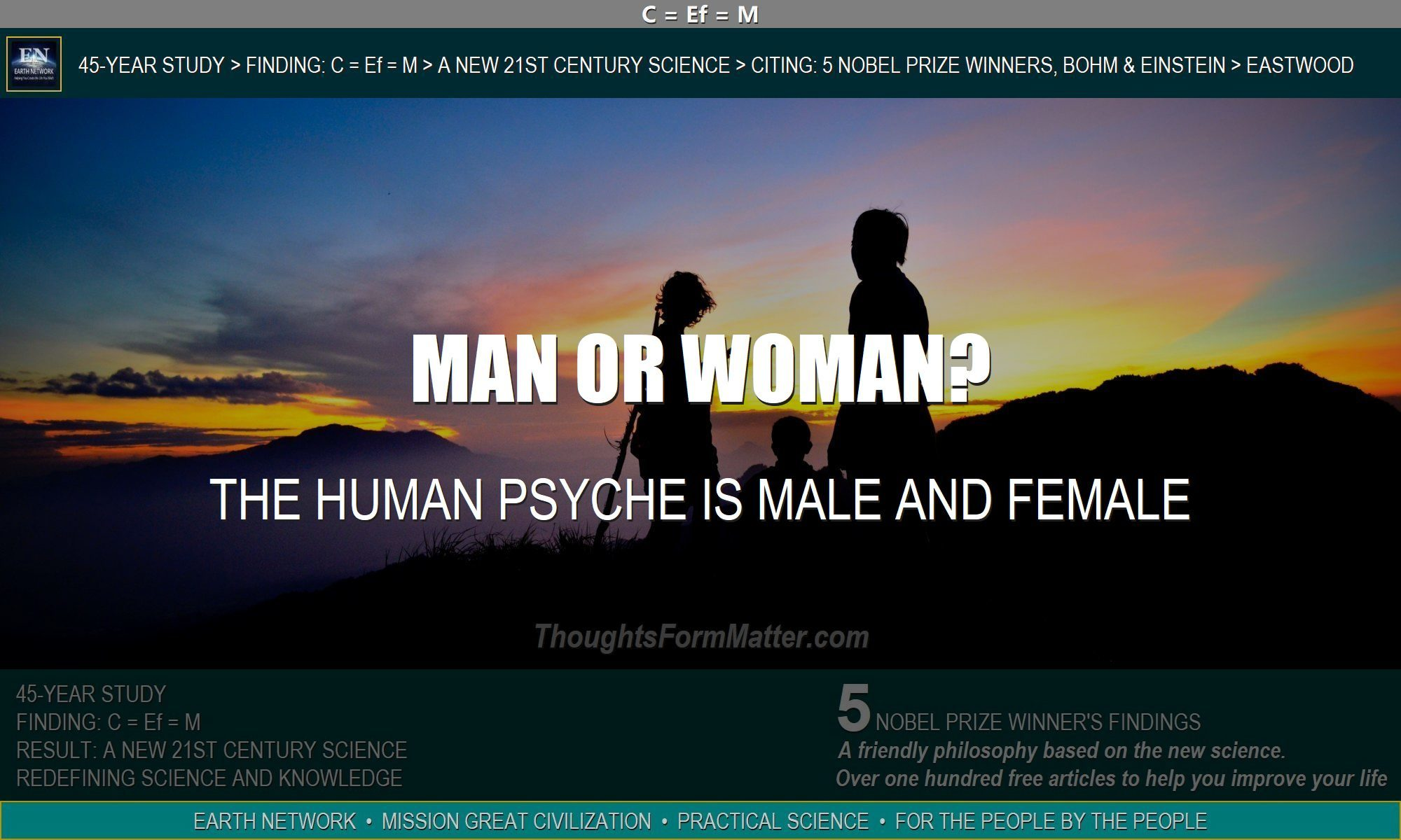 Family depicts human psyche boys like girls and men like women.