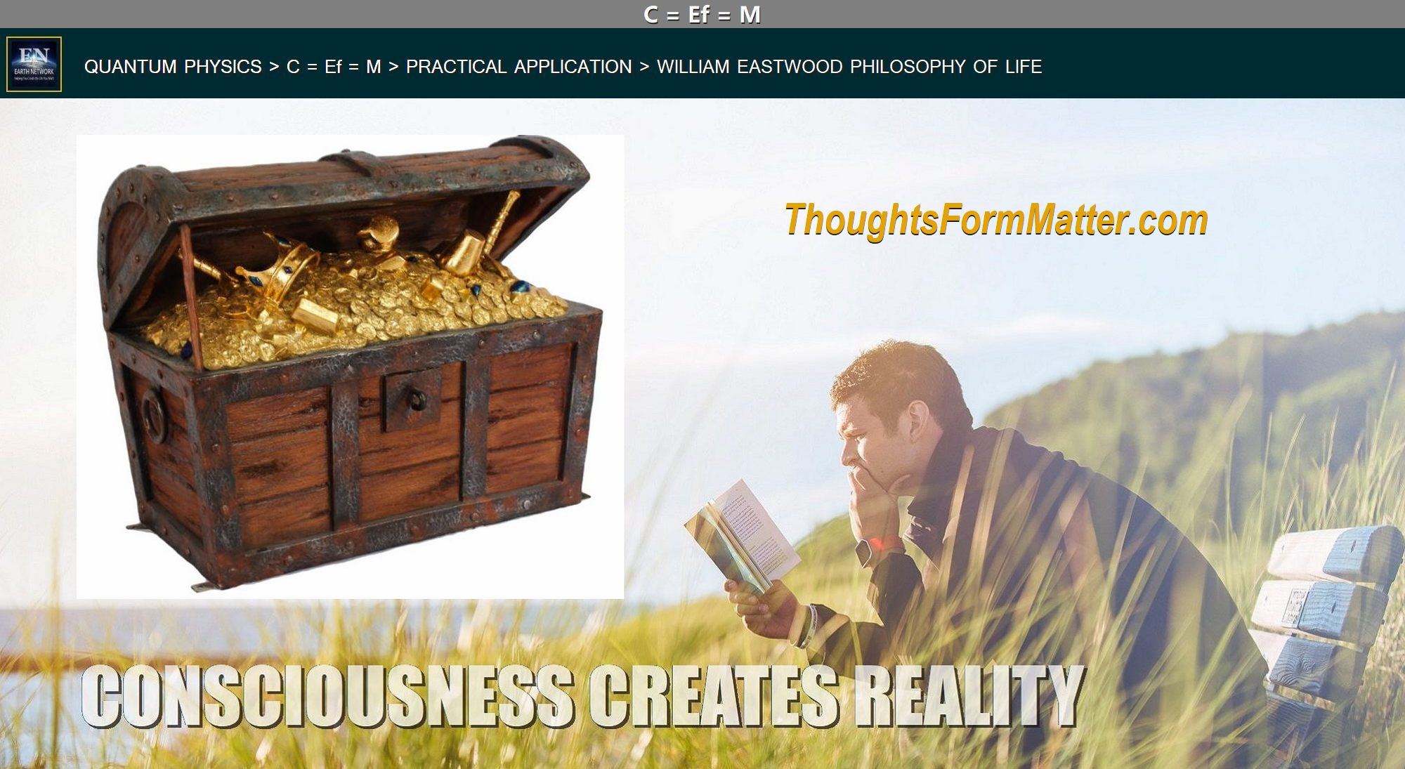 Man creating money depicts how your-thoughts-form-matter-create-your-reality-science-facts-application-manifesting