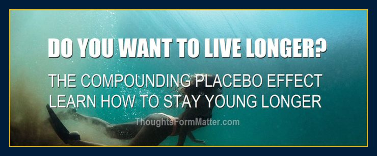 woman swimming depicts Compounding placebo effect learn how to stay young and live longer manifest all goals