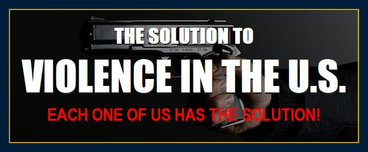 Gun depicts solution to gun violence division conflict problems crime discontent turmoil agression victimization shootings homegrown terrorism