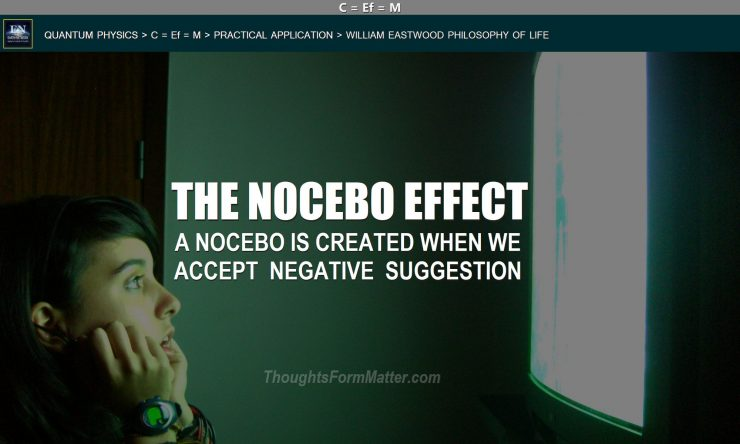 Woman blankly staring at tv is creating nocebo