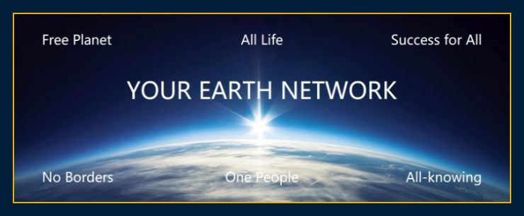 Image of sun rising over earth depicts About us and Earth Network thoughts create matter and our mission and the answers and new science the people of the world deserve to have.