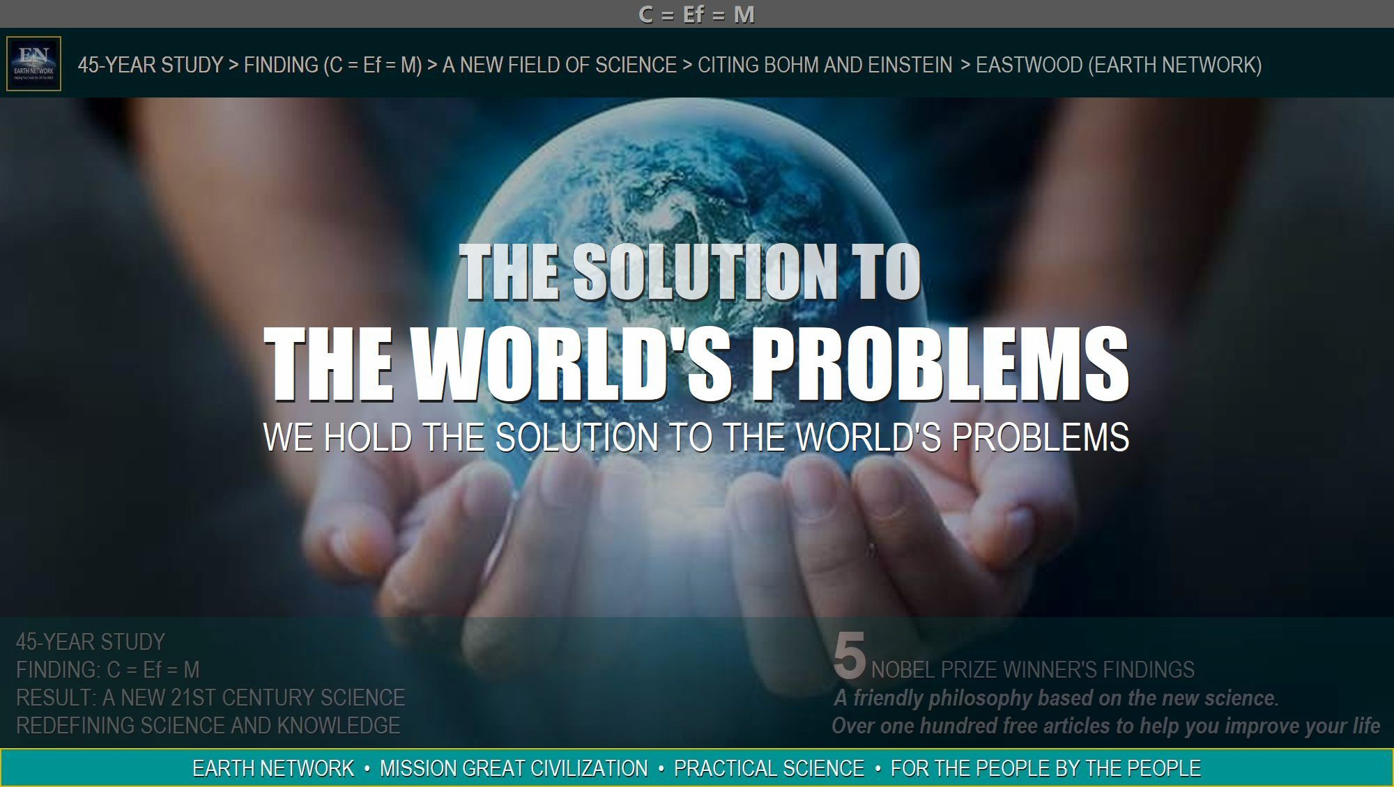 Globe of earth in hands represents us holding the solution to the world's problems for you.