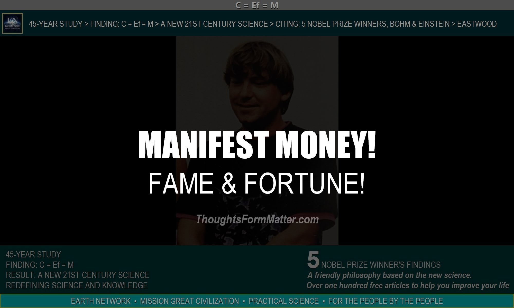 William Eastwood explains how you can manifest money, fame and fortune. Learn how to become a rich and famous person.
