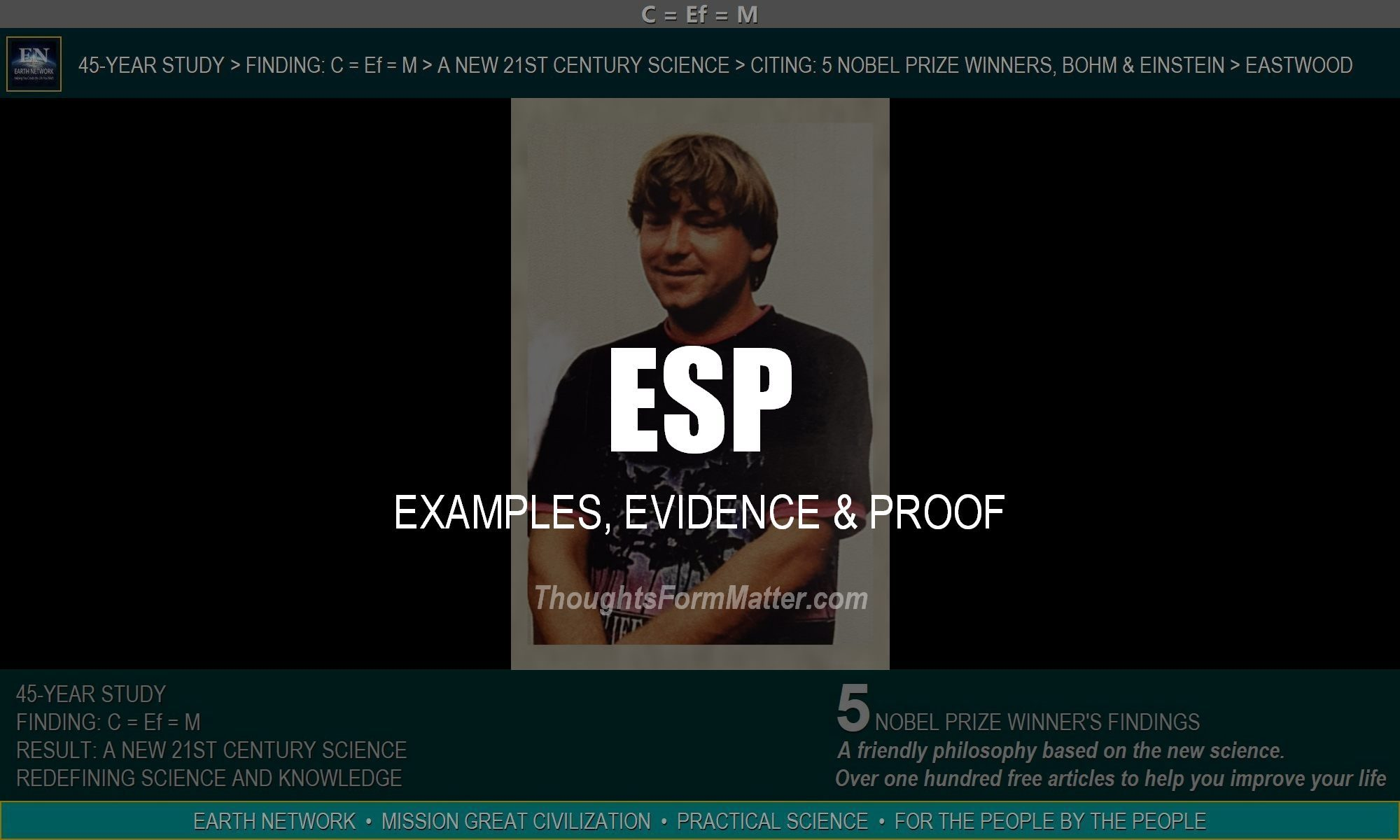 William Eastwood explains what ESP really is and how to develop it, with examples, evidence and proof.
